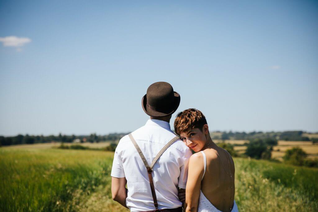 DIY Wedding of Becky & Omar at Love2yurt, Farthinghoe