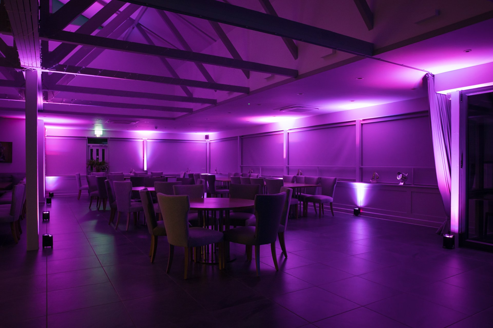 Uplighter's at Kent Wedding Venue