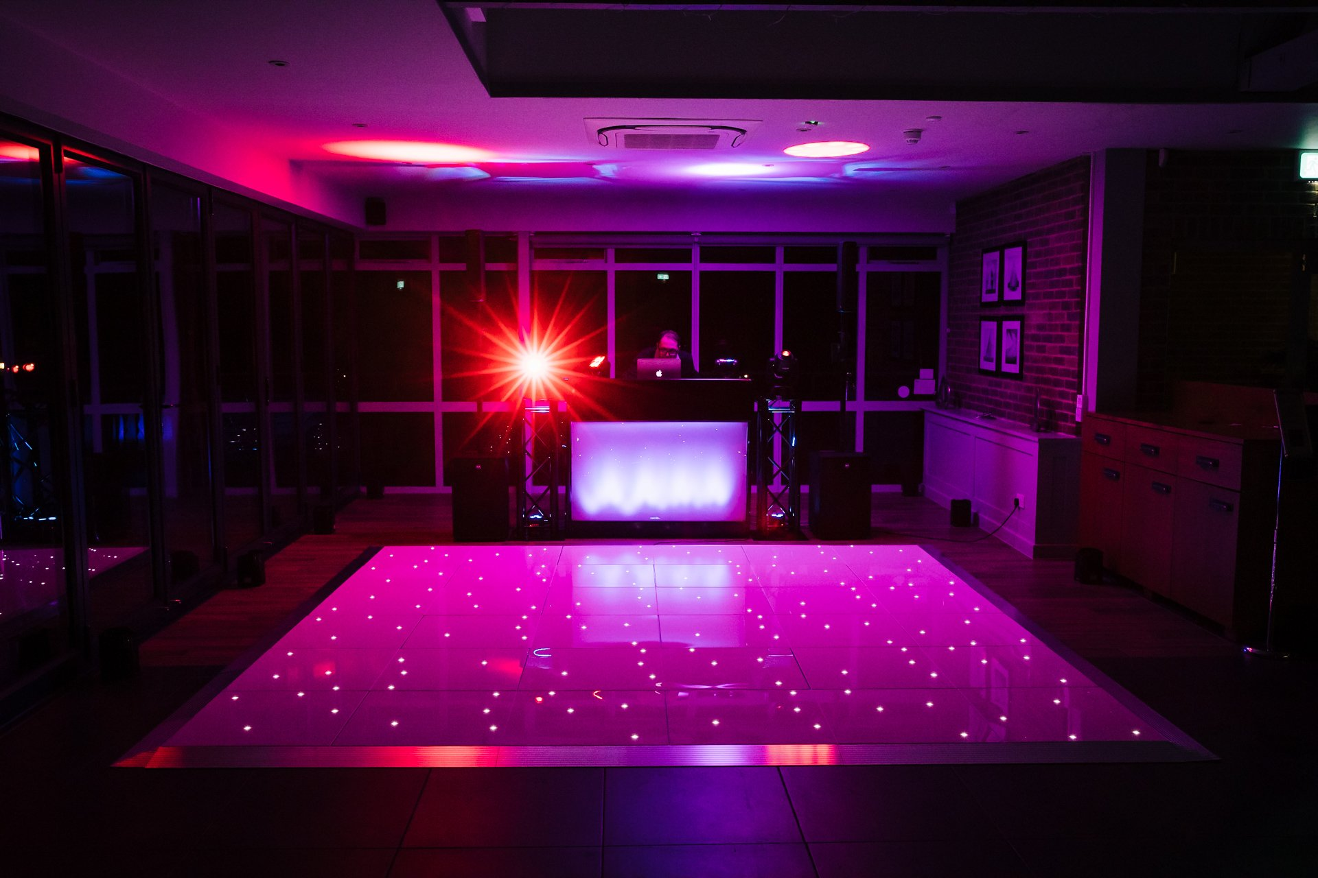 DJ Dance Floor at Kent Wedding Venue