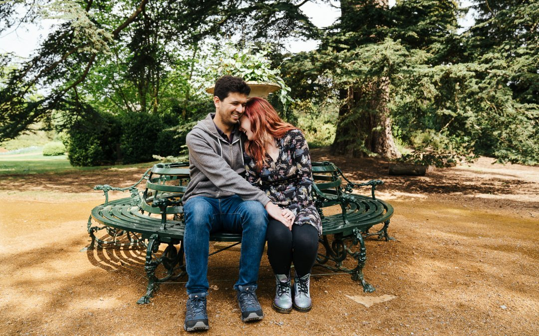 Beautiful couple shoot at Swiss Gardens, Bedfordshire