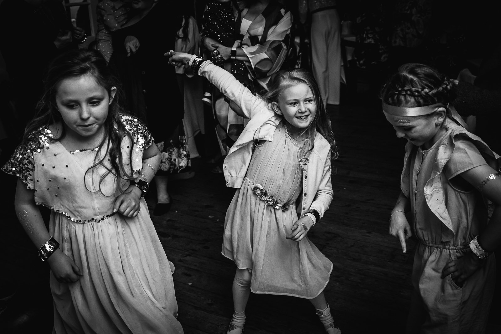 Child dancing at Wedding reception at The Bull Hotel