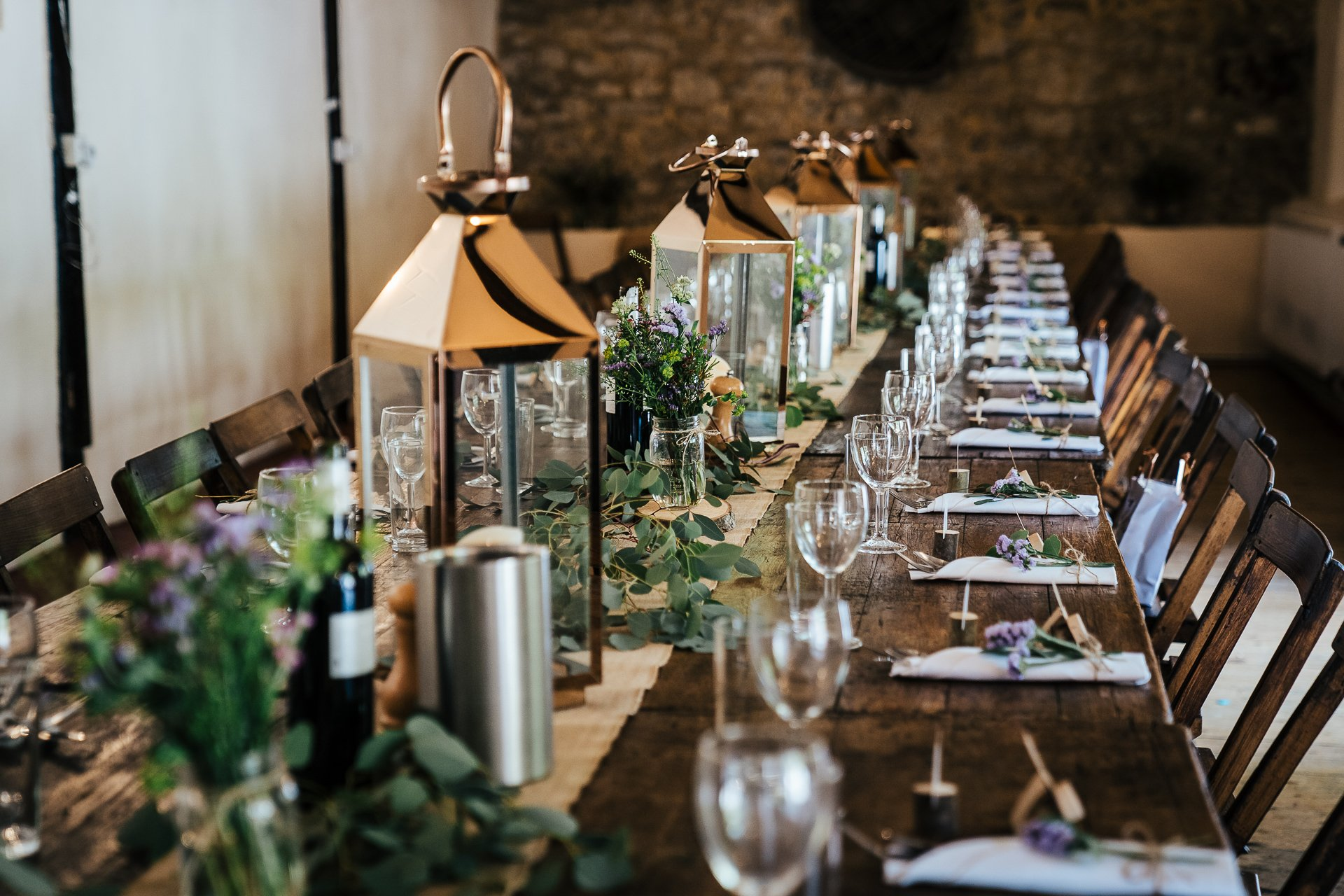 The buttery Wedding Breakfast at Rustic wedding