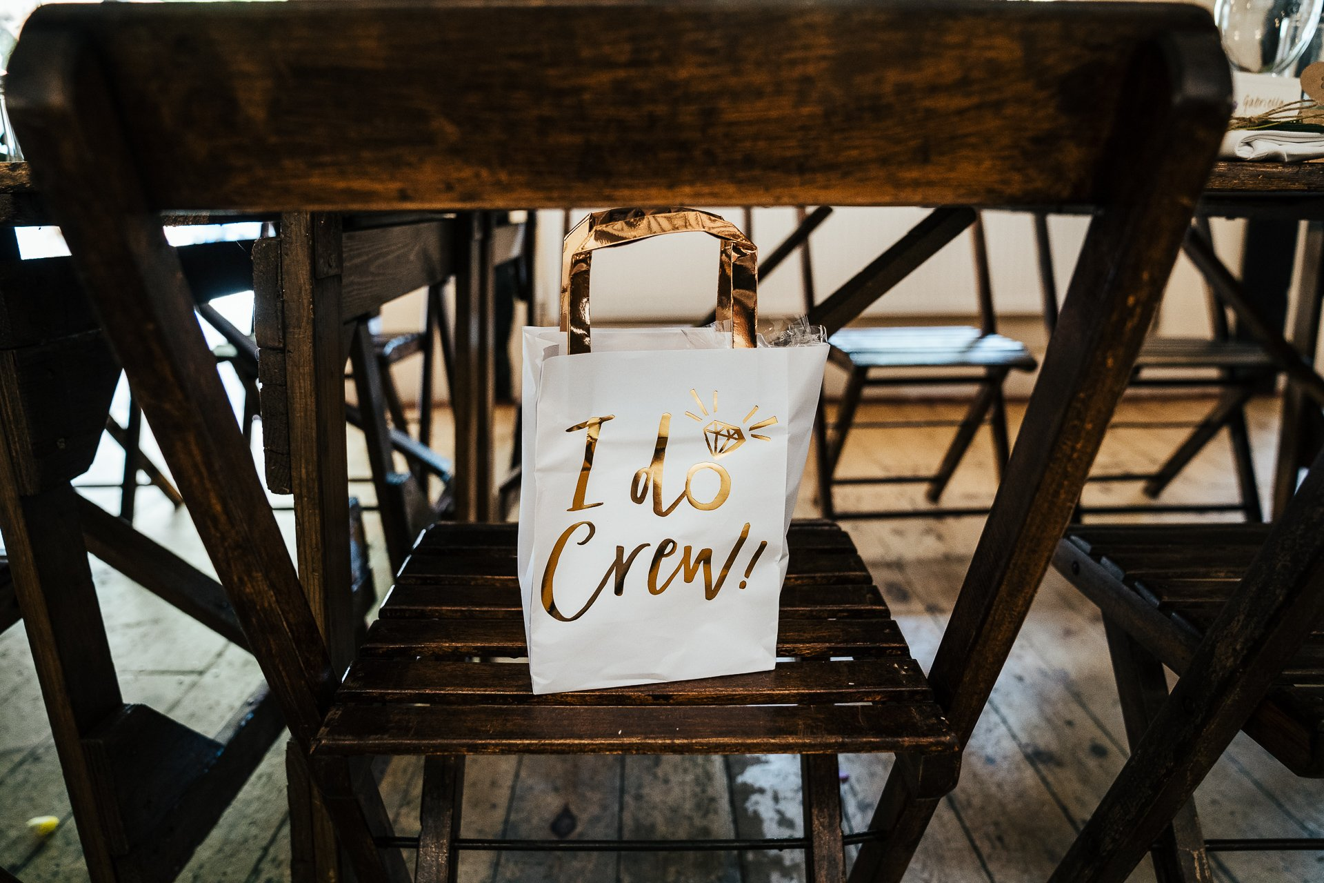 I Do Crew gift bag for kids at a wedding