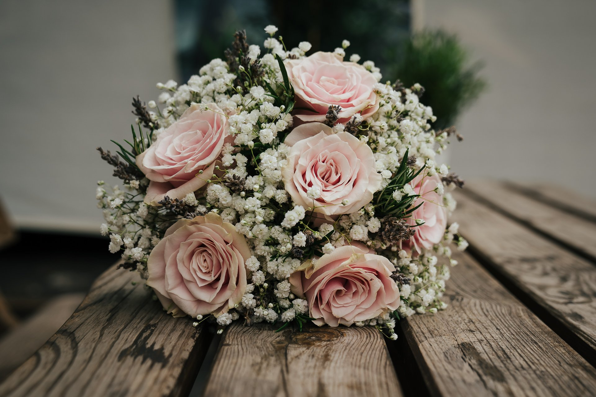 Stunning pale pink and white bridal bouquet
