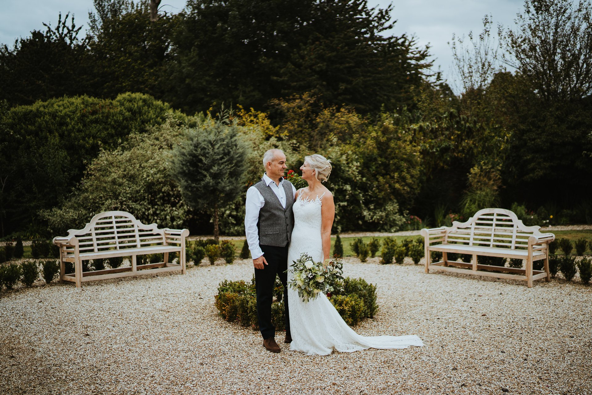 Newly wed couple at The Secret Garden Kent