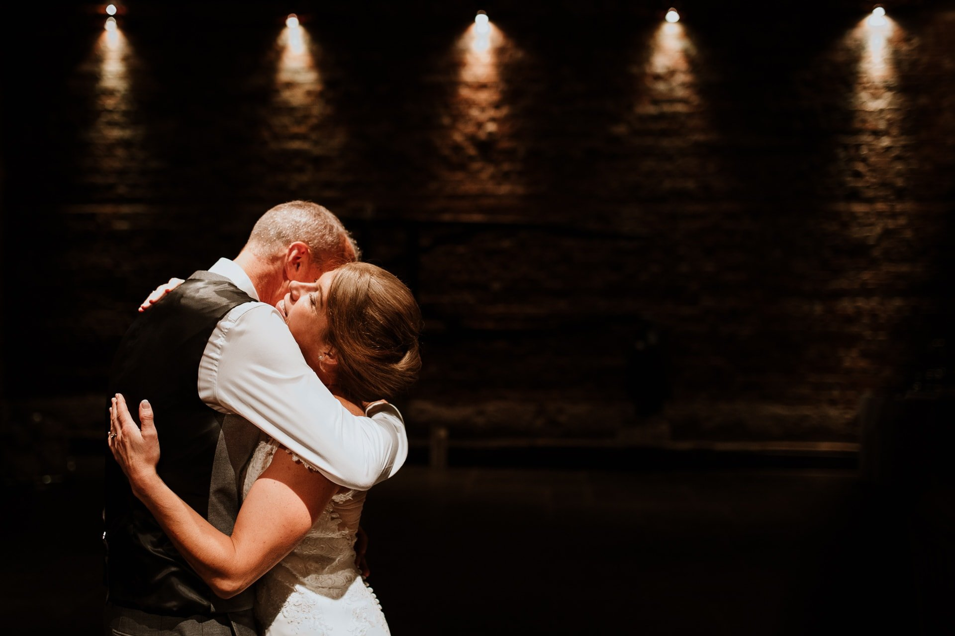 bride and groom during their first dance at Cooling Castle Wedding