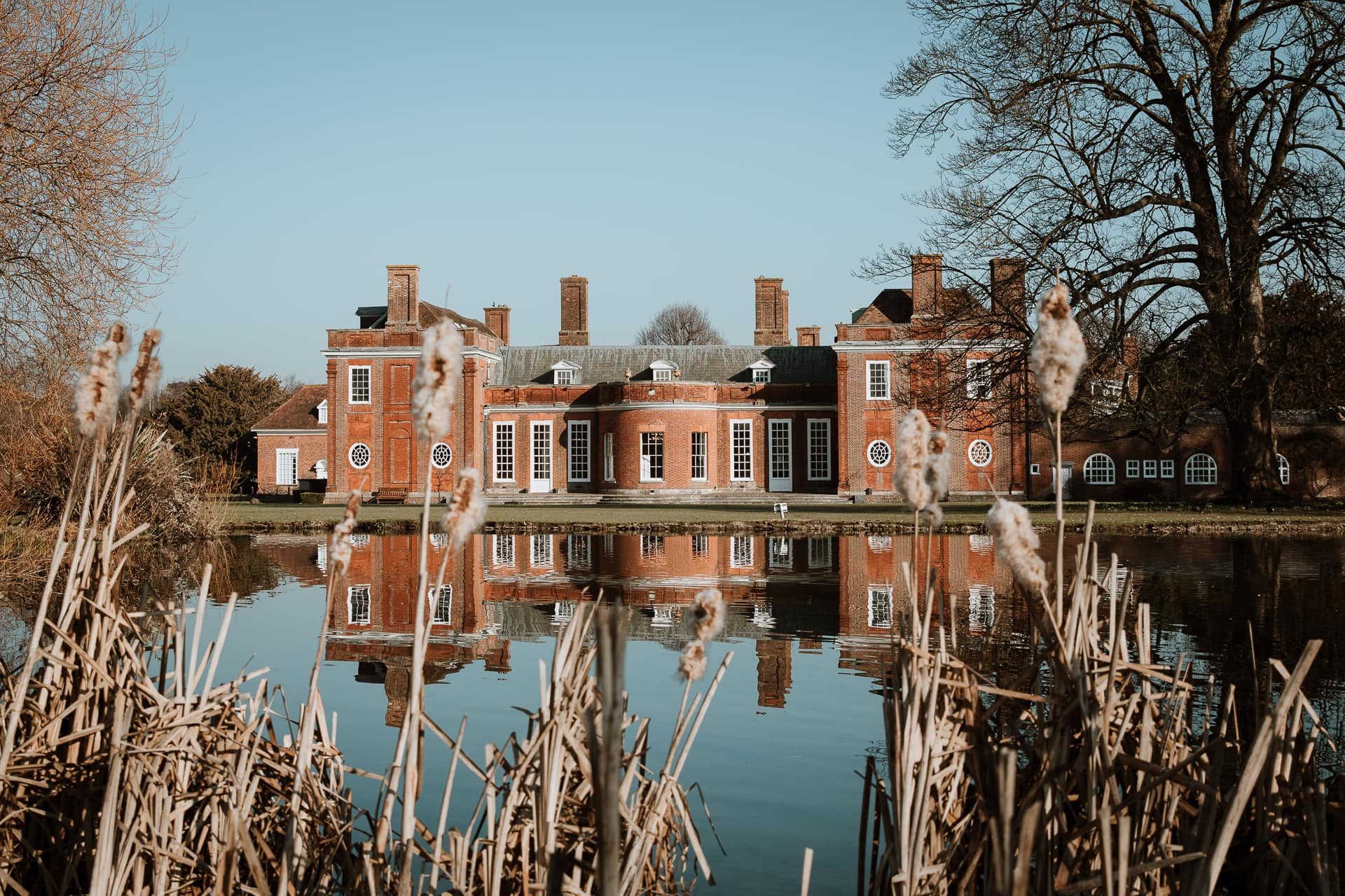 Bradbourne House, Kent wedding venue in spring sunshine