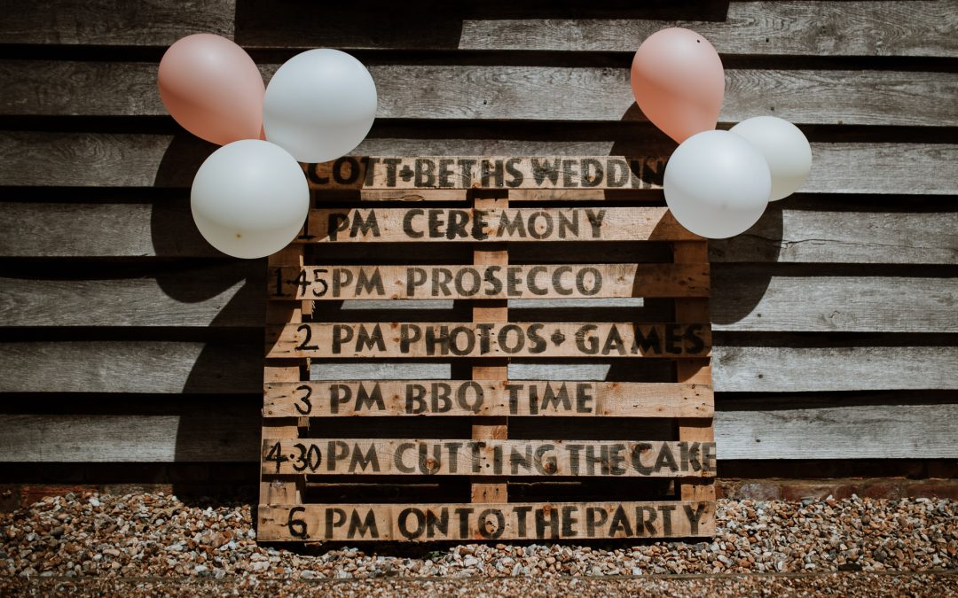Tips for a relaxed wedding timeline