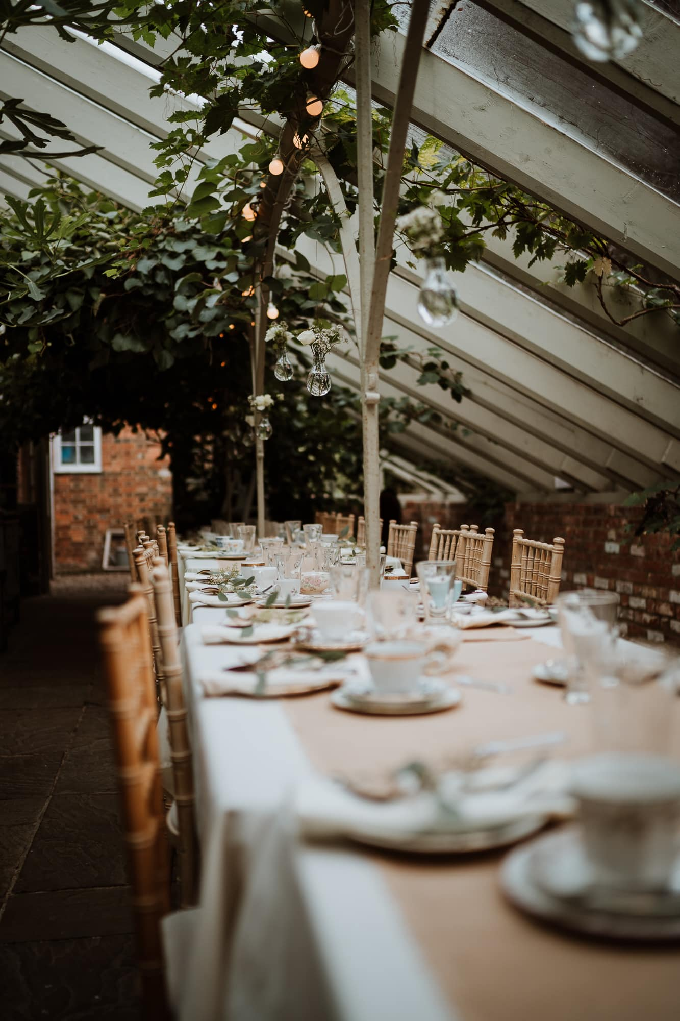 Gorgeous setup for intimate wedding breakfast in kent