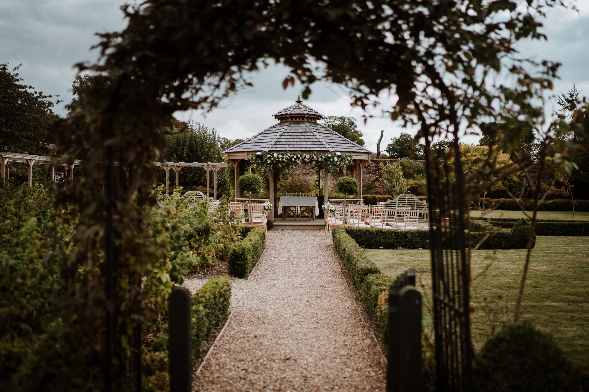 Gazebo Wedding ceremony at The Secret Garden Ashford Kent