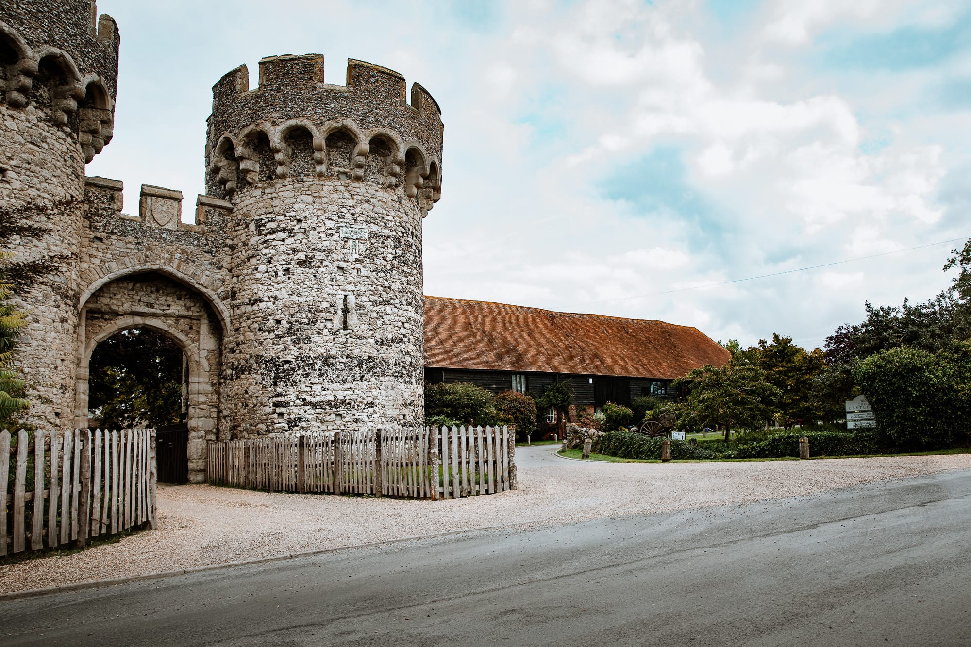 Gate house of Cooling Castle, Kent Wedding venue